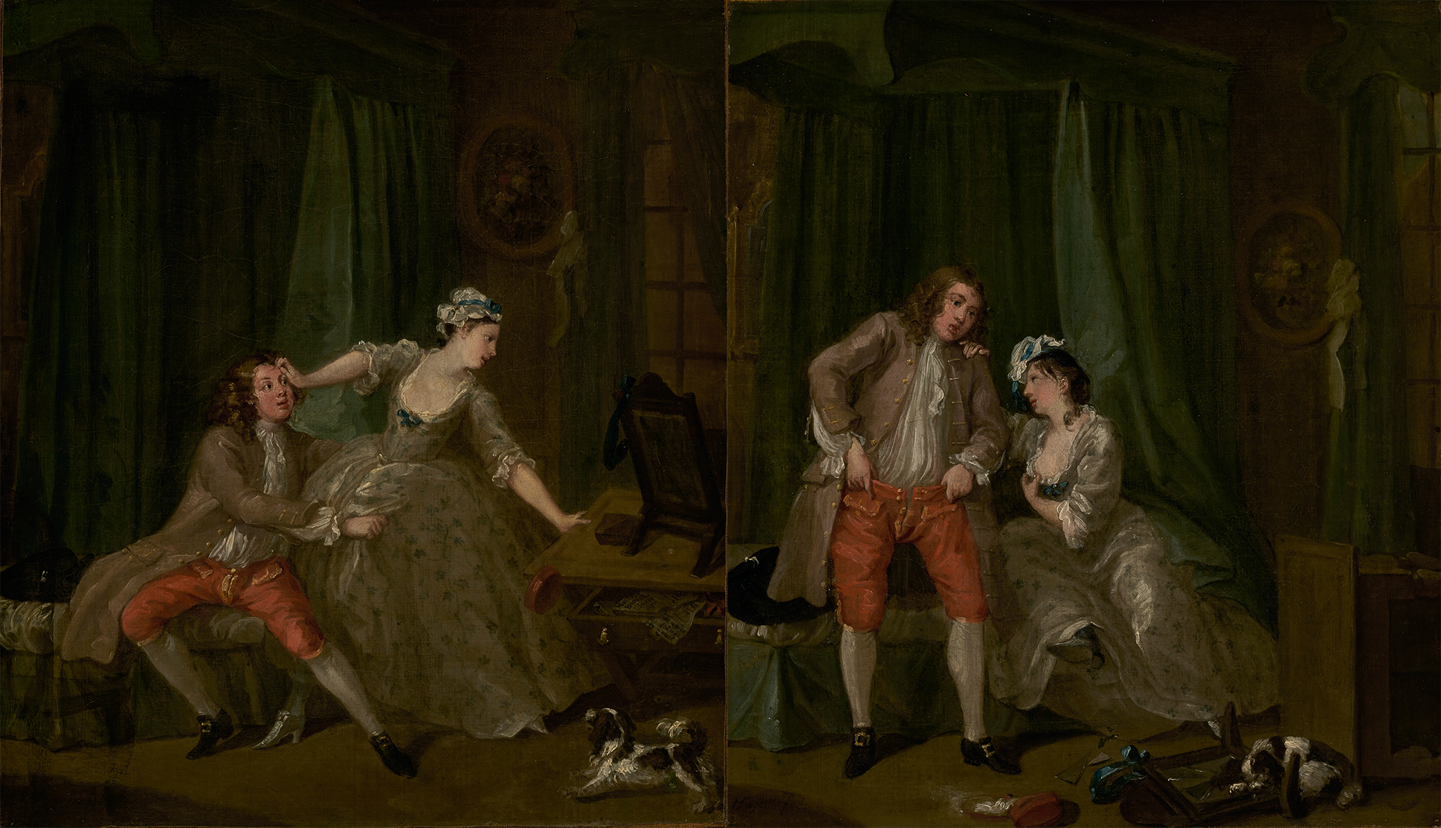 (L) Before and (R) After, by William Hogarth, c. 1730–31. The J. Paul Getty Museum, digital images courtesy of the Getty's Open Content Program.