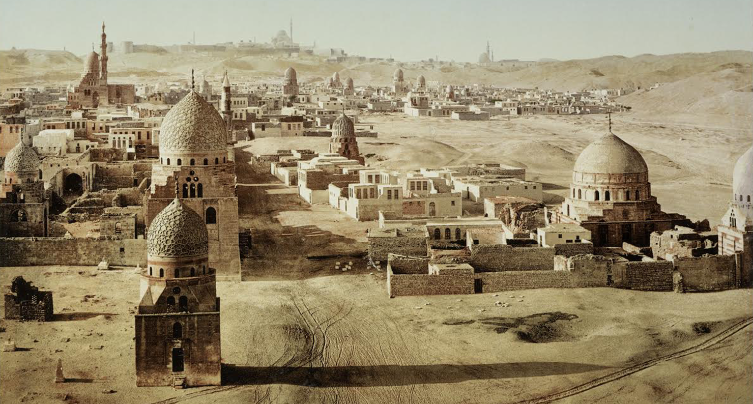 View of the Tombs of the Caliphs, Cairo, 1906. Digital image courtesy of the Getty's Open Content Program.