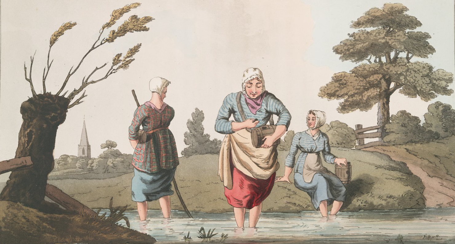 Leech Finders, by George Walker, 1814. NYPL.