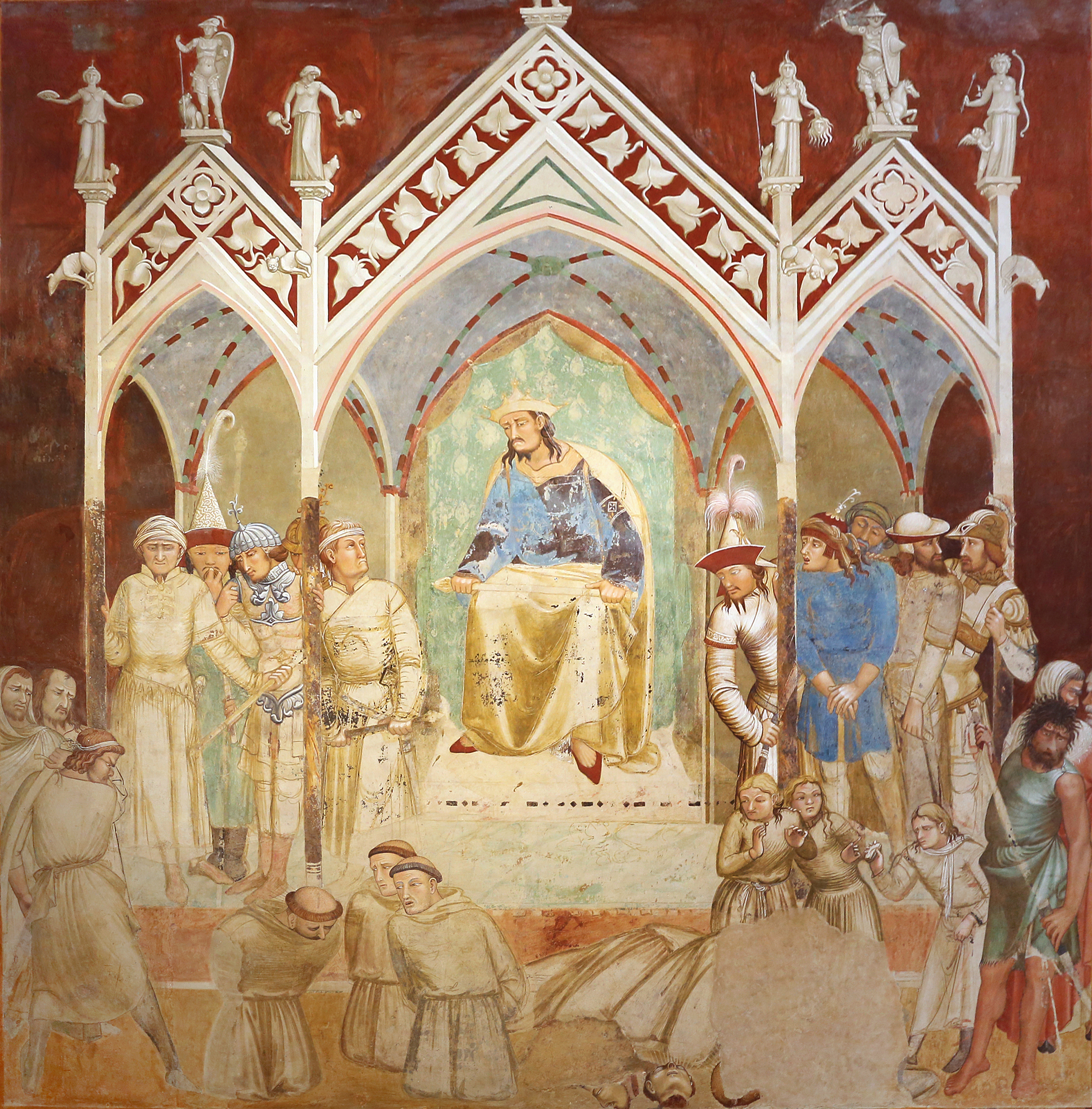 The Martyrdom of the Franciscans, fresco by Ambrogio Lorenzetti, c. 1330. Photograph by Saliko.