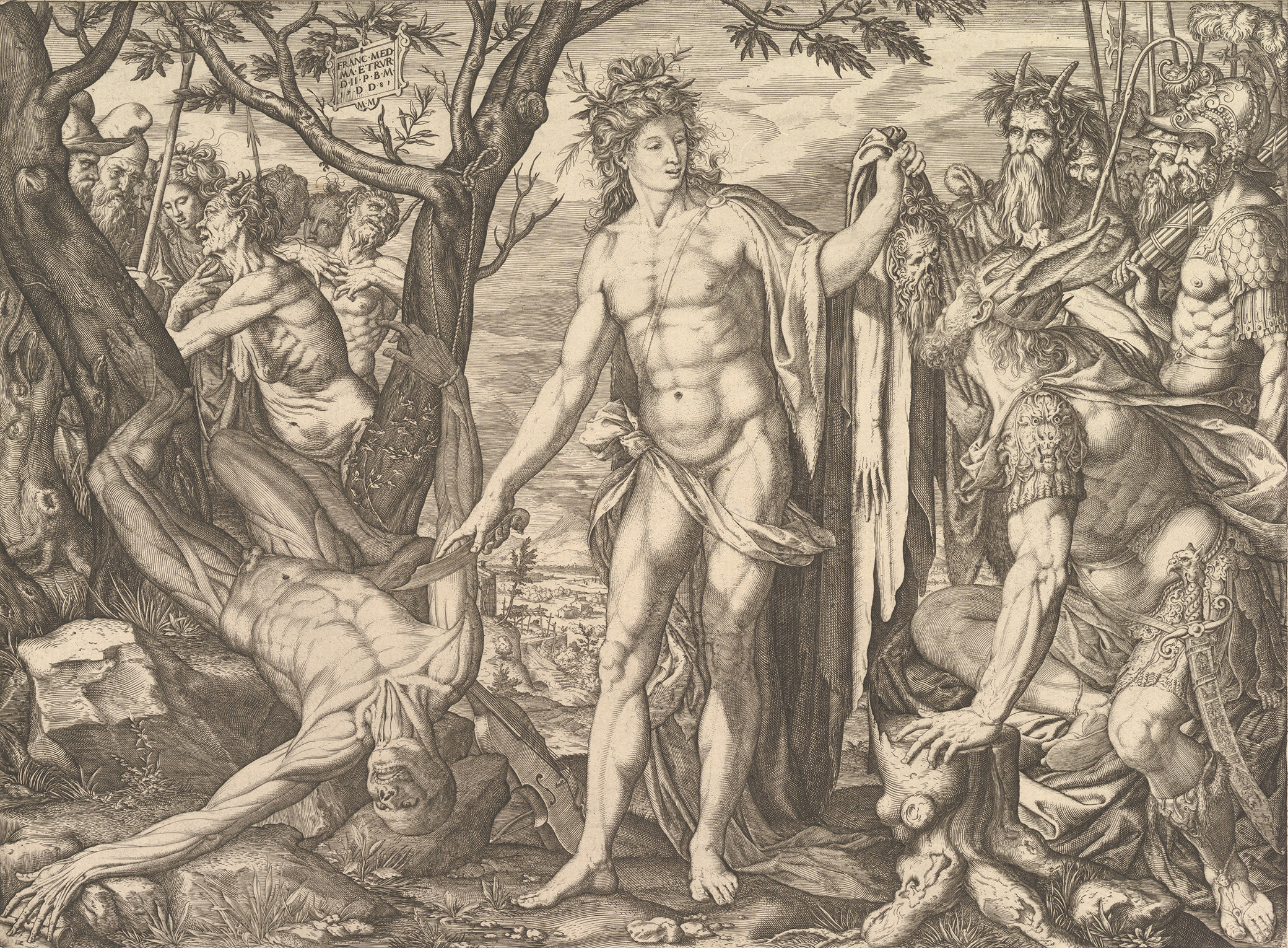 Apollo and Marsyas and the Judgment of Midas, by Melchior Meier, 1581. The Metropolitan Museum of Art, Bequest of Phyllis Massar, 2011.