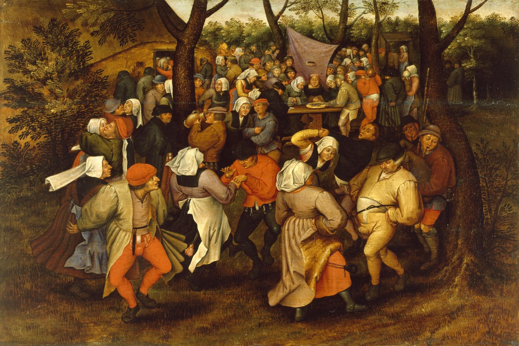 Peasant Wedding Dance, by Pieter Brueghel II, 1607. The Walters Art Museum.