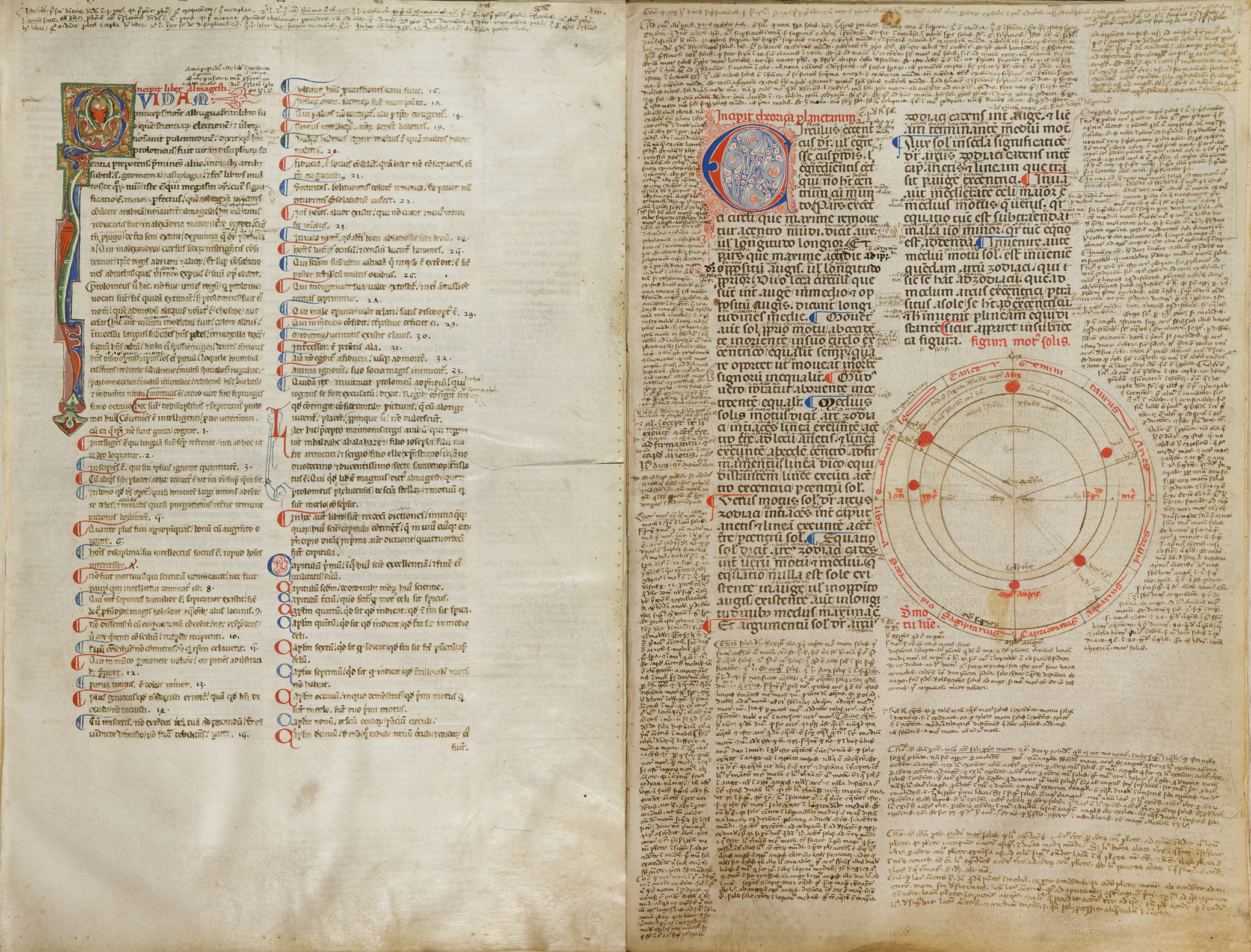 From Ptolemy's The Almagest, translated from the Arabic by Gerard of Cremona, 1200. State Library Victoria.