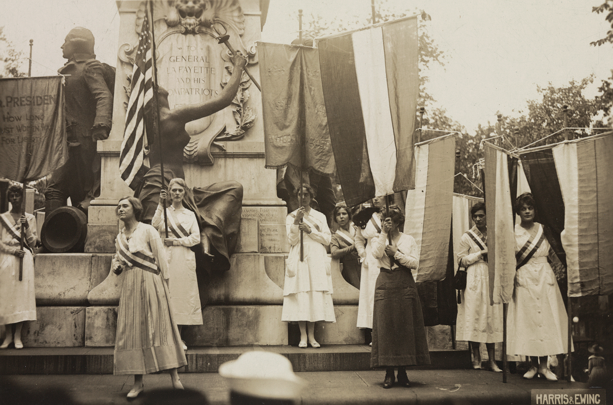 Suffrage demonstration to get the last vote in the Senate before June 4, 1919. Photograph by Harris & Ewing. Library of Congress, Prints and Photographs Division.