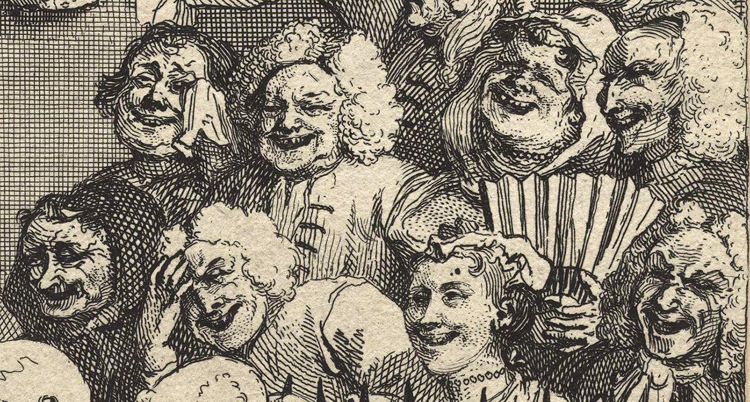 The Laughing Audience, by William Hogarth, c. 1733.