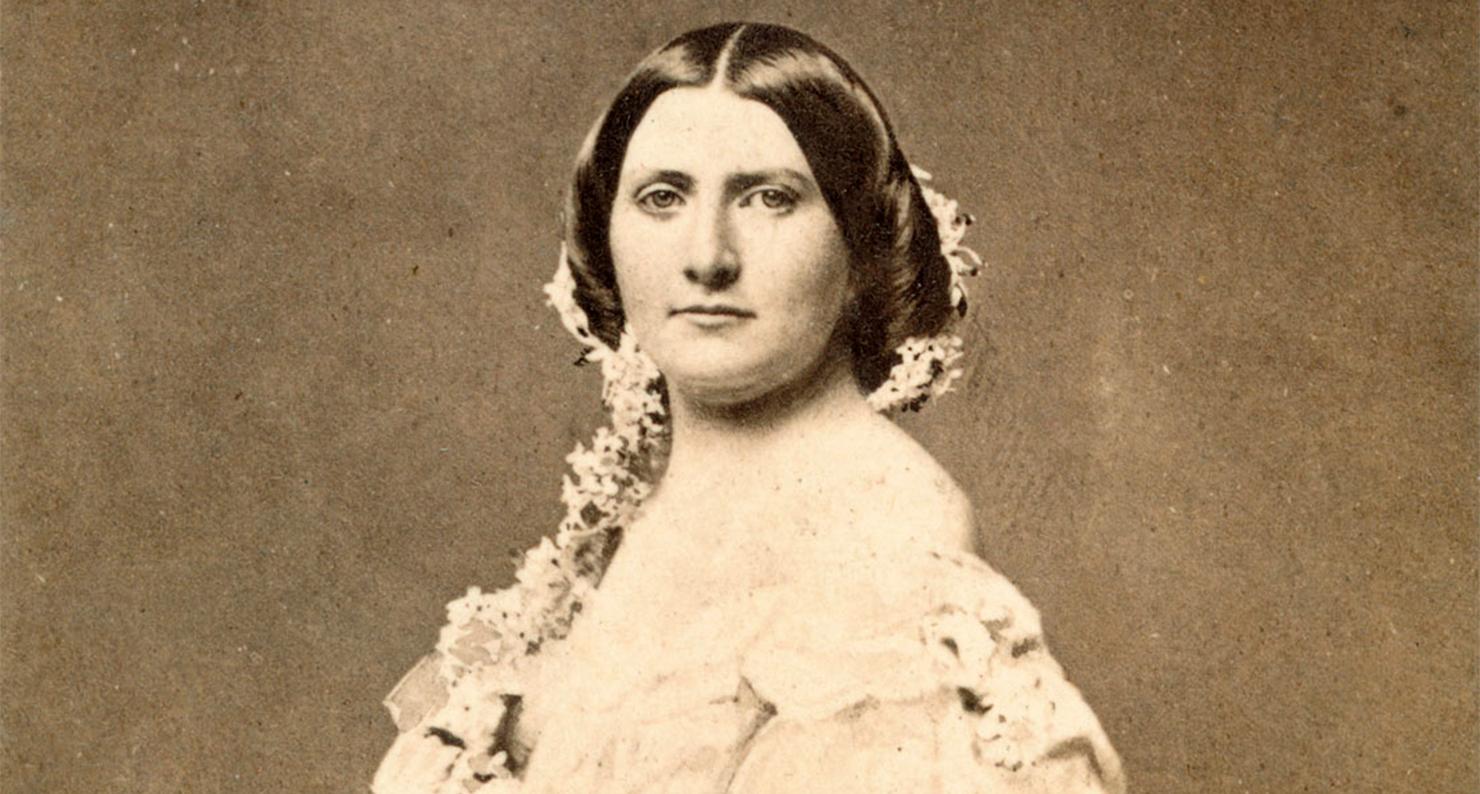 Harriet Lane, Niece of US President James Buchanan, 1860.