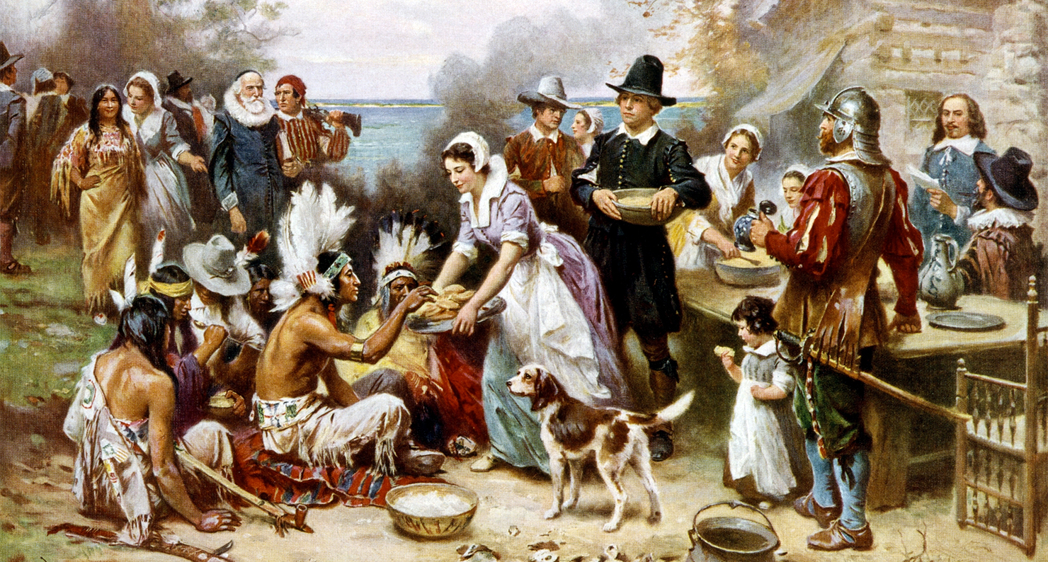 The First Thanksgiving, by Jean Leon Gerome Ferris, c. 1915.