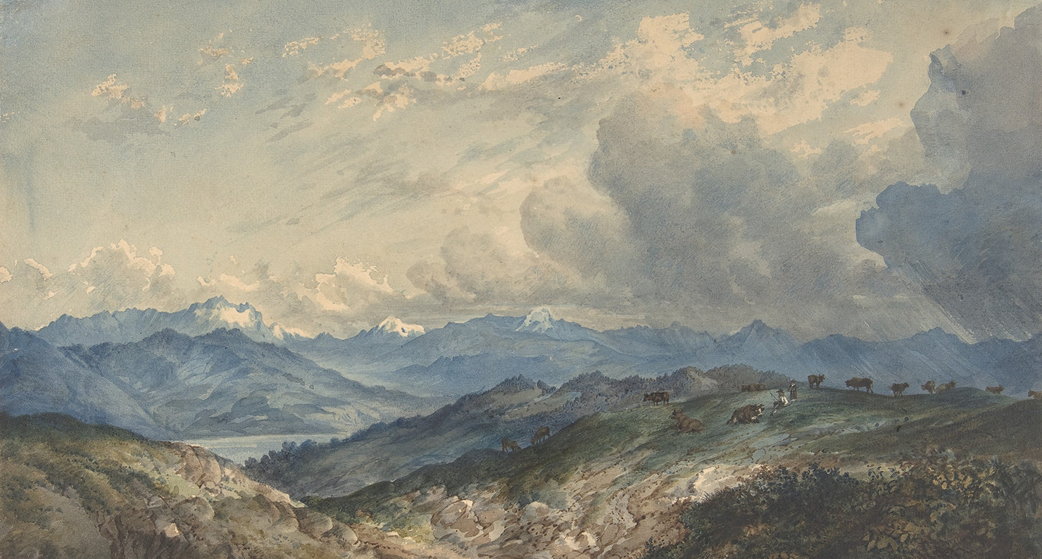 Mountainous Landscape with Approaching Thunderstorm, by anonymous, nineteenth century. The Metropolitan Museum of Art, Van Day Truex Fund, 2006.