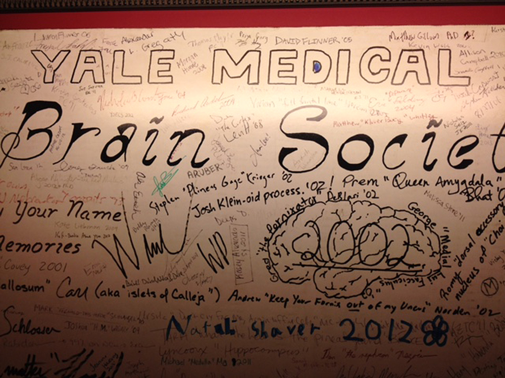 The Brain Society poster. Photograph by Randi Hutter Epstein.
