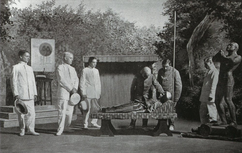 """The execution of Jizme from a performance of """"Impressions of Africa"""" at the Antoine Theater, Paris, 1912."""