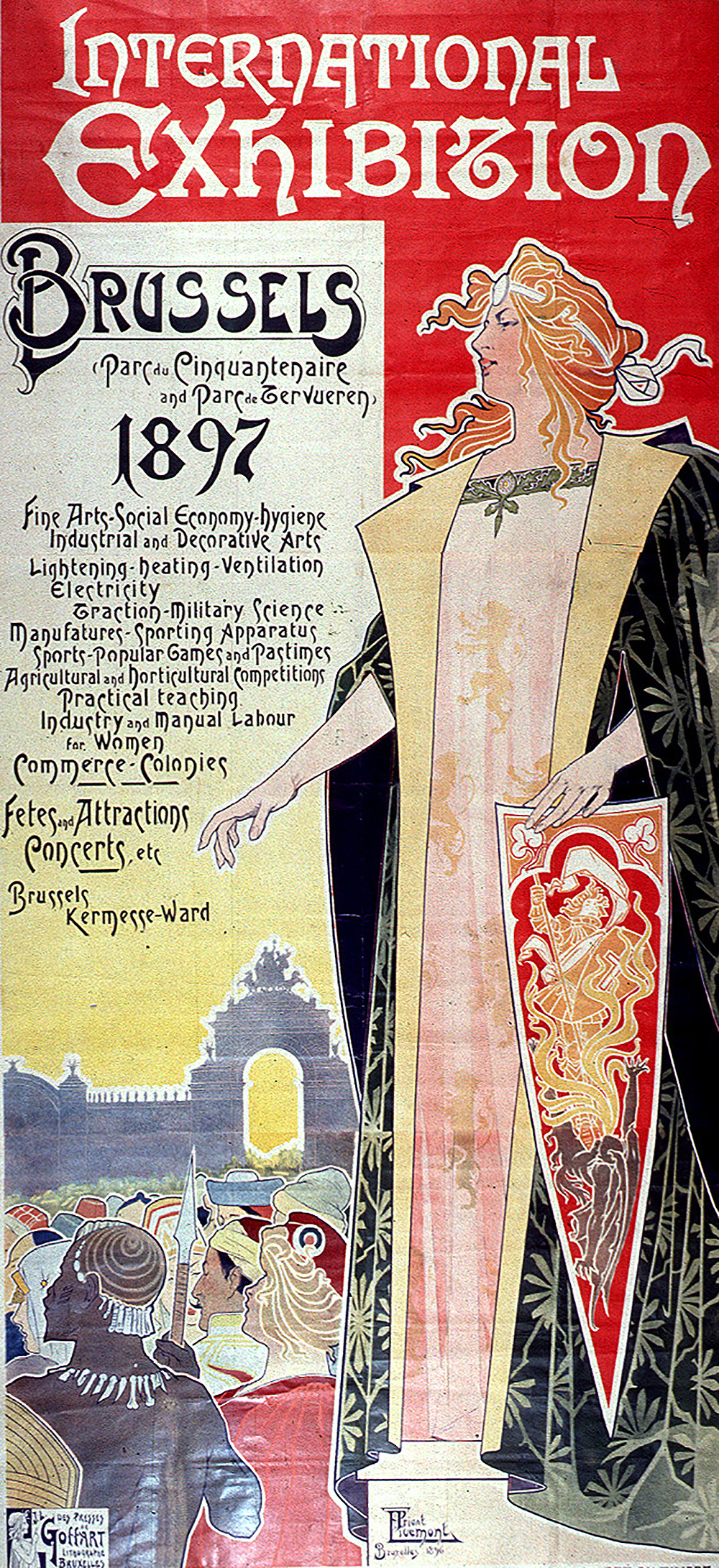 Poster from the 1897 Colonial Exposition in Brussels by Henri Privat-Livemont.