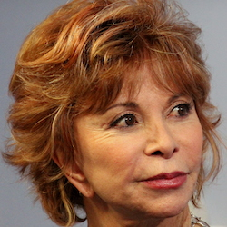 A photograph of Isabel Allende