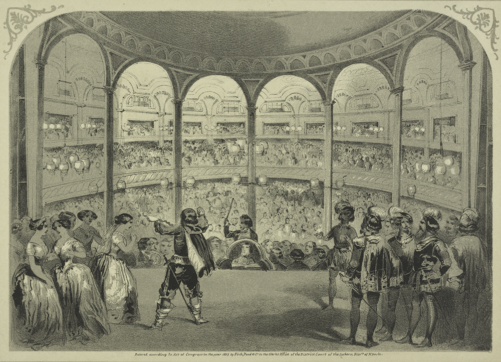 The Italian Opera at Castle Garden. The New York Public Library, The Miriam and Ira D. Wallach Division of Art, Prints and Photographs: Print Collection.