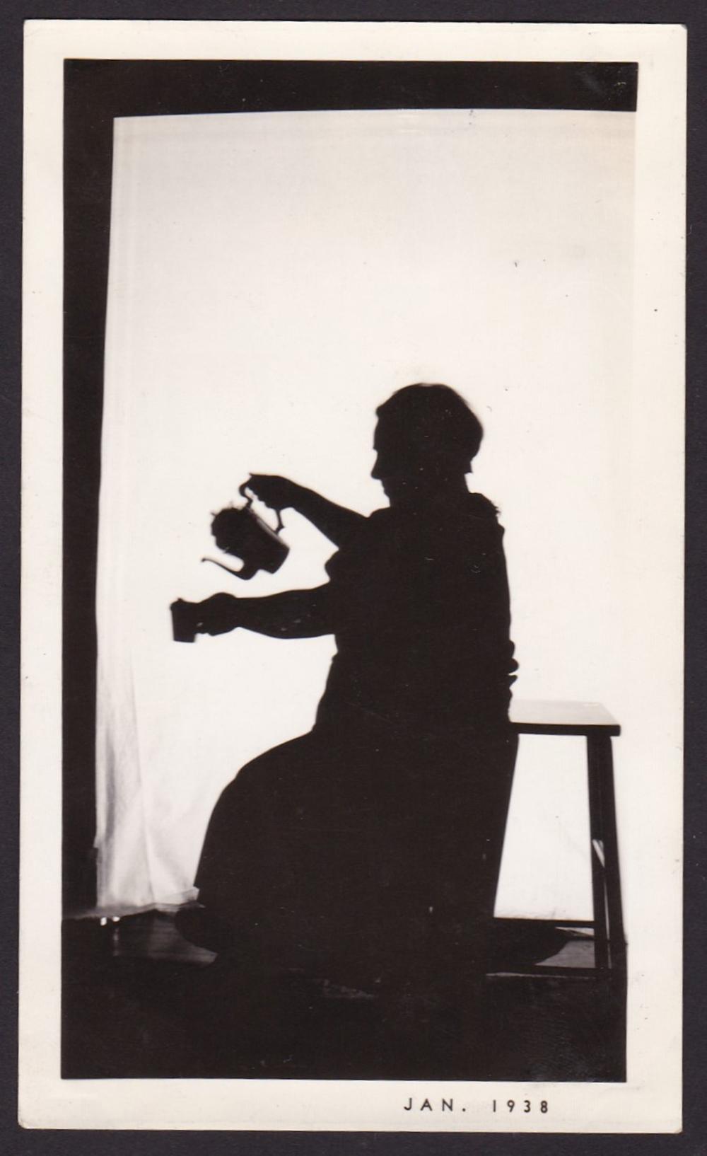 Silhouette photograph, 1938.