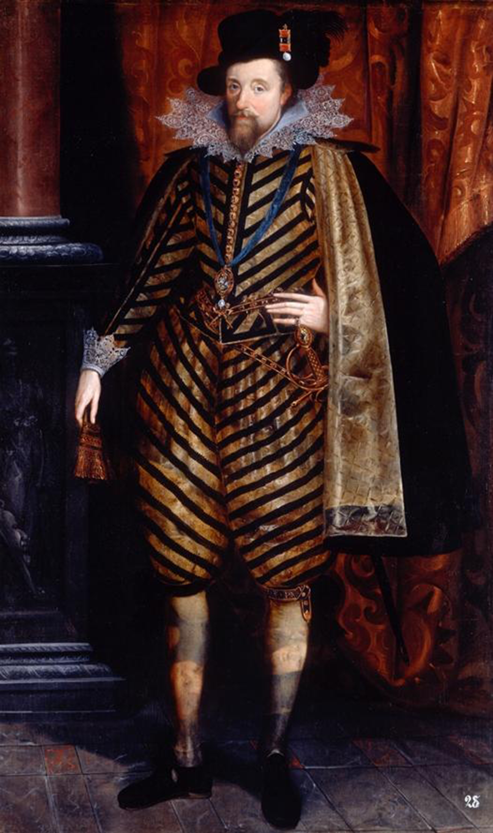 Portrait of King James I, c. 1618–20.