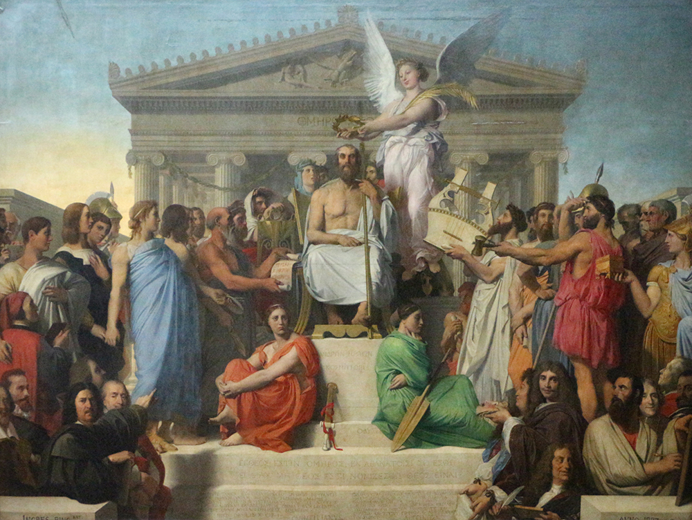 The Apotheosis of Homer, by Jean-Auguste-Dominique Ingres, 1827.