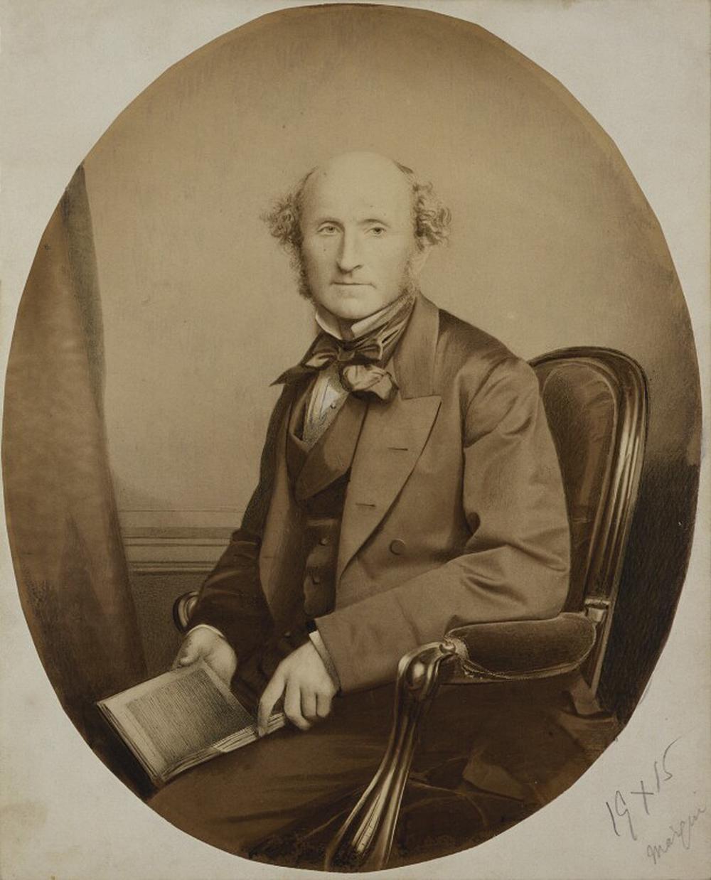 John Stuart Mill, by John & Charles Watkins, 1865. National Portrait Gallery.