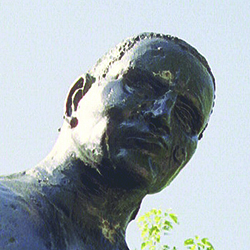 A statue of John Henry