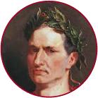 A painting of Julius Caesar.