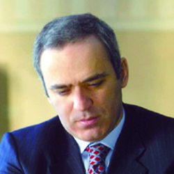 A photograph of Garry Kasparov