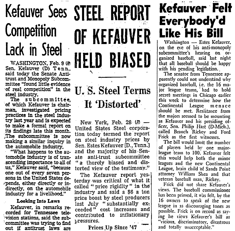 Los Angeles Times, February 10, 1958; Chicago Daily Tribune, March 1, 1958; Newsday, May 19, 1960.