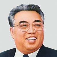 A color illustration of Kim Il Sung