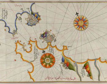 A colorful early modern map of the straits of Gibraltar