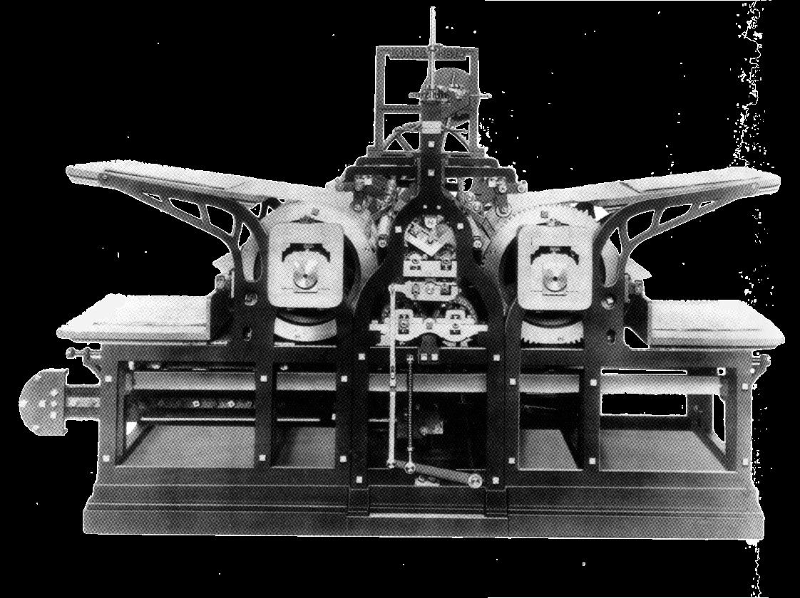 A photograph of an 1814 steam press