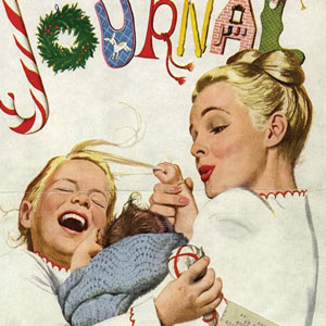 A detail of a ladies home journal magazine cover form 1946.