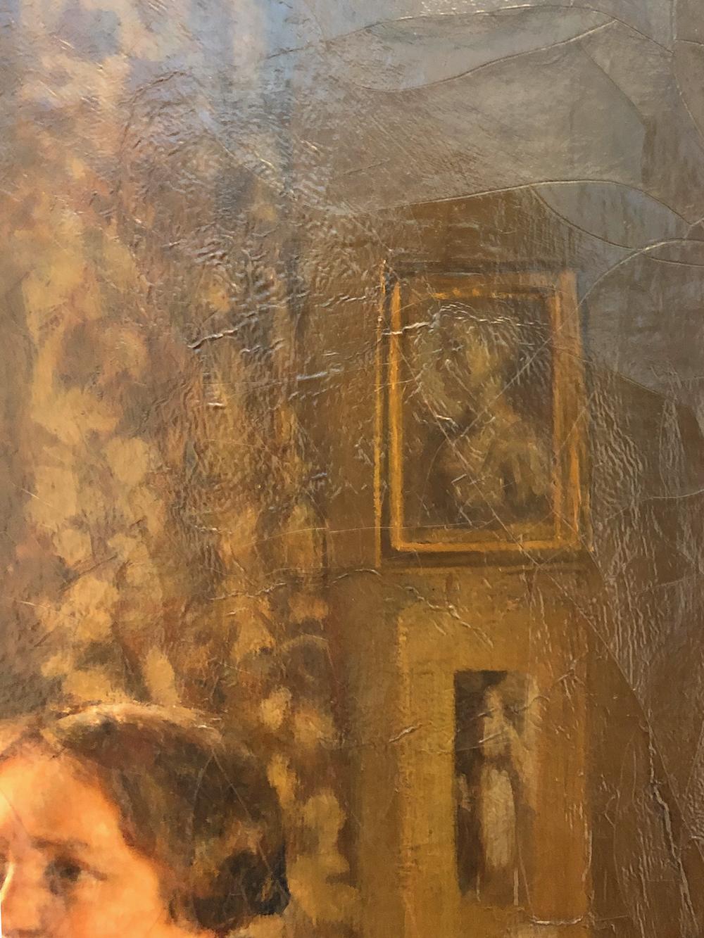 The upper right-hand corner of The Tea Party features a portrait of a young woman's profile. University of Pennsylvania, Kislak Center for Special Collections, Rare Books, and Manuscripts.