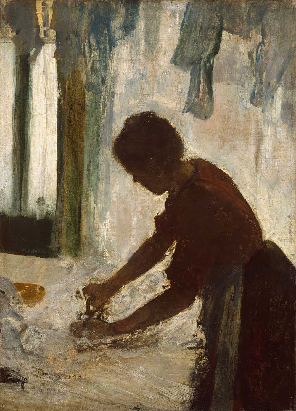 A Woman Ironing, by Edgar Degas, 1873.