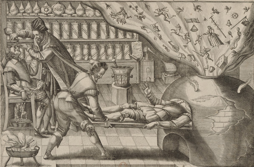 The Doctor Heals Fantasy, by Mattheus Greuter, 1620.