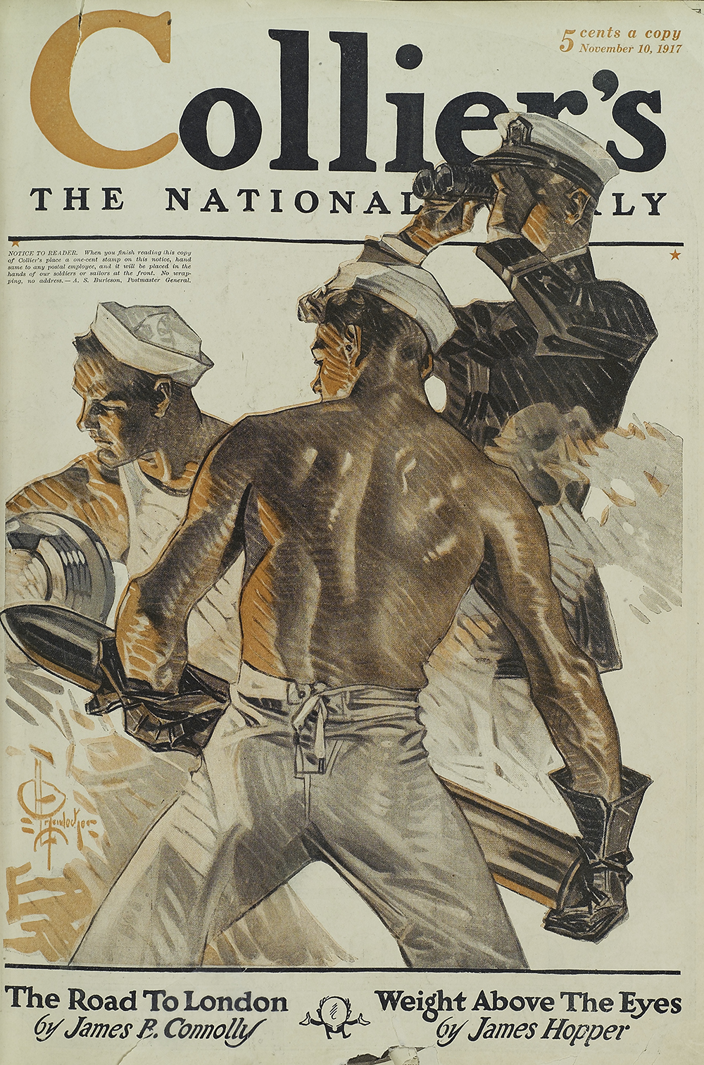Collier's cover by J.C. Leyendecker, 1917. The New York Public Library, General Research Division.