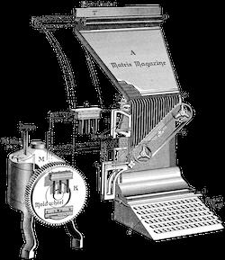 A linotype machine diagram