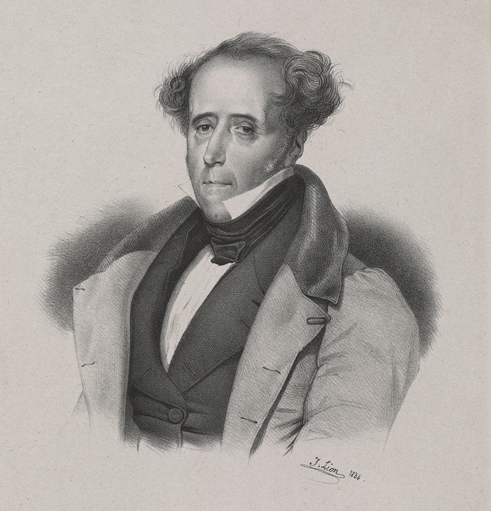 """Le Vicomte de Chateaubriand,"" by Jules Lion, 1834. The New York Public Library, The Miriam and Ira D. Wallach Division of Art, Prints and Photographs: Print Collection."