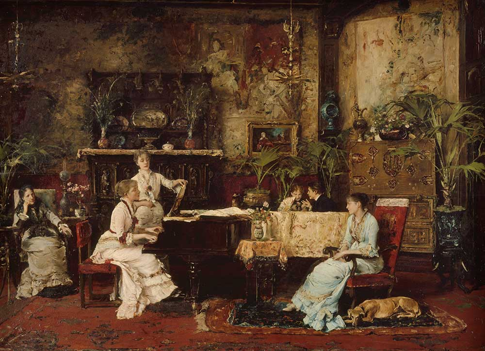 The Music Room, by Mihály Munkácsy, 1878.