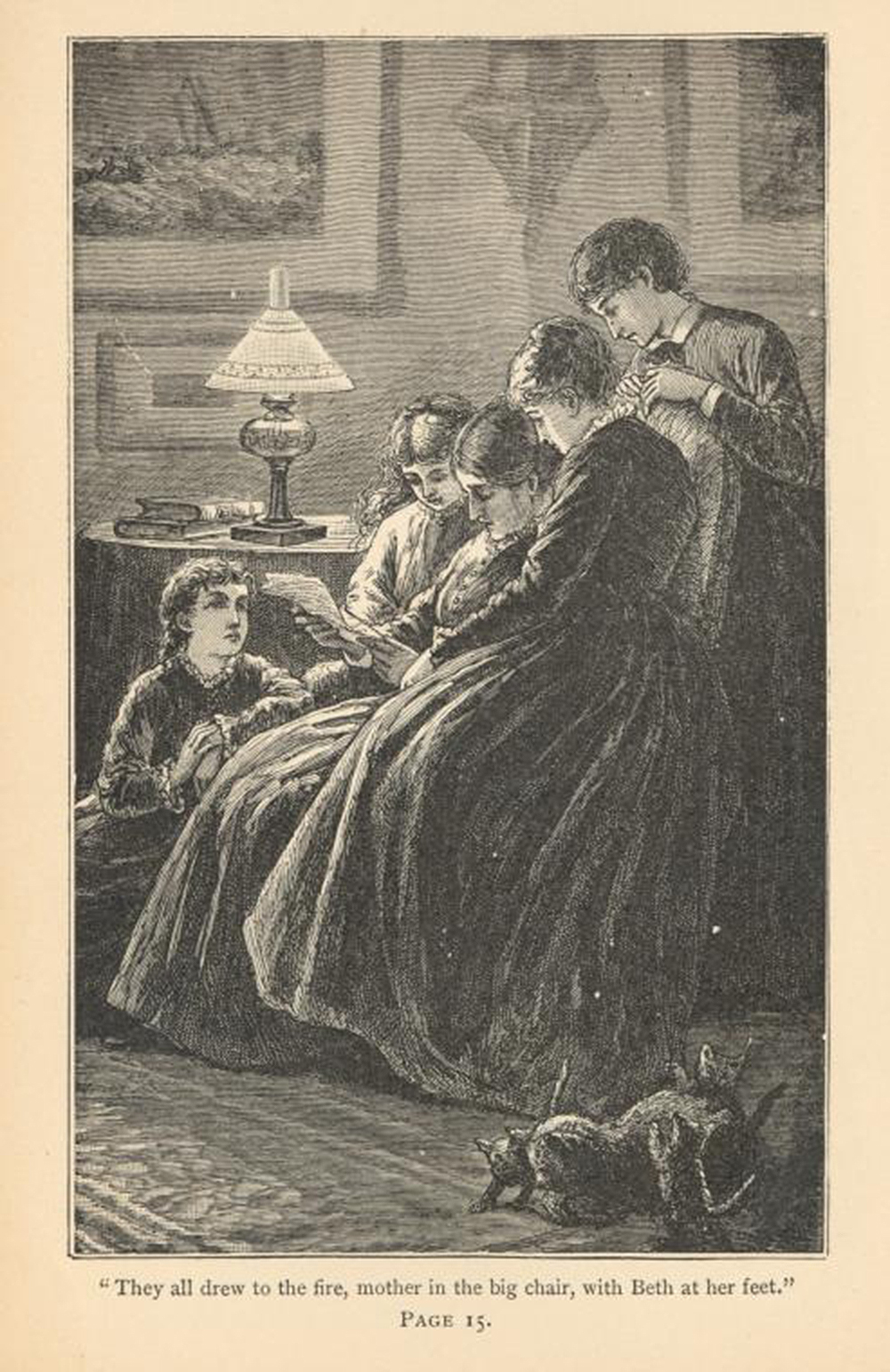 """Illustration from """"Little Women,"""" 1893. New York Public Library, General Research Division."""