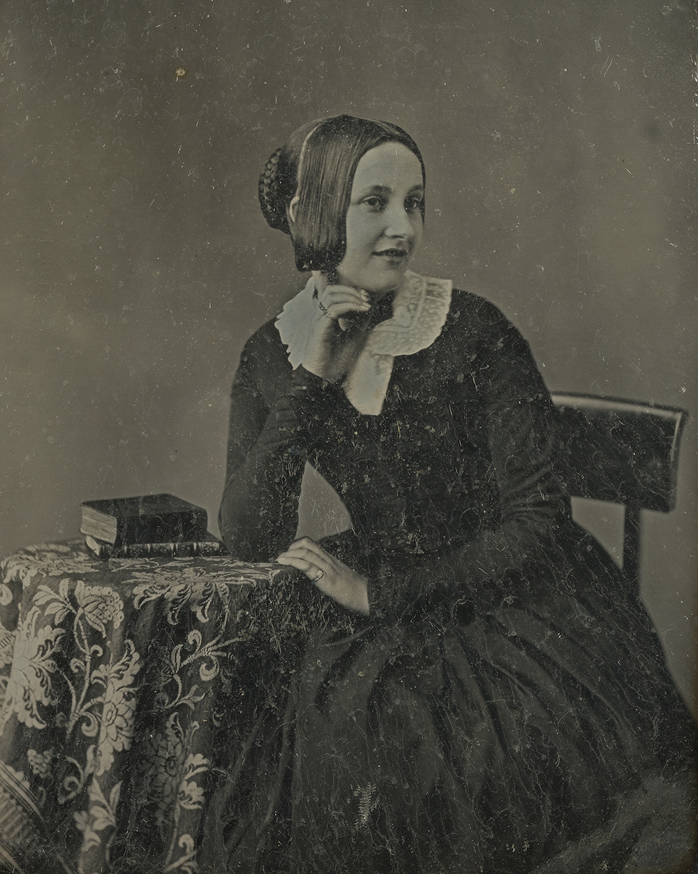 Portrait of Caroline Emilia Mary Herschel, by John Jabez Edwin Mayall, c. 1853. The J. Paul Getty Museum, Los Angeles. Digital image courtesy the Getty's Open Content Program.