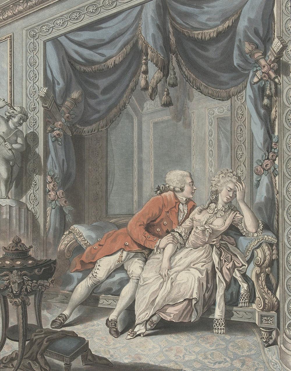 Young man tries to seduce a lady, by Joseph de Longueil, c. 1740–92. Rijksmuseum.