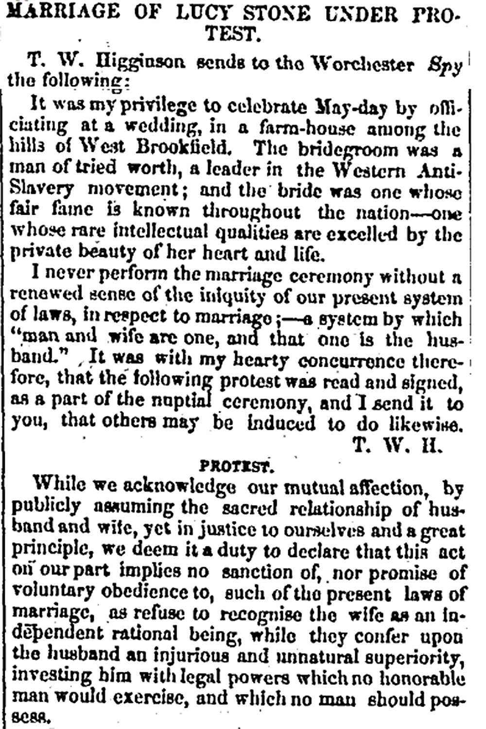 """Article from the """"Republican Banner,"""" May 9, 1855."""