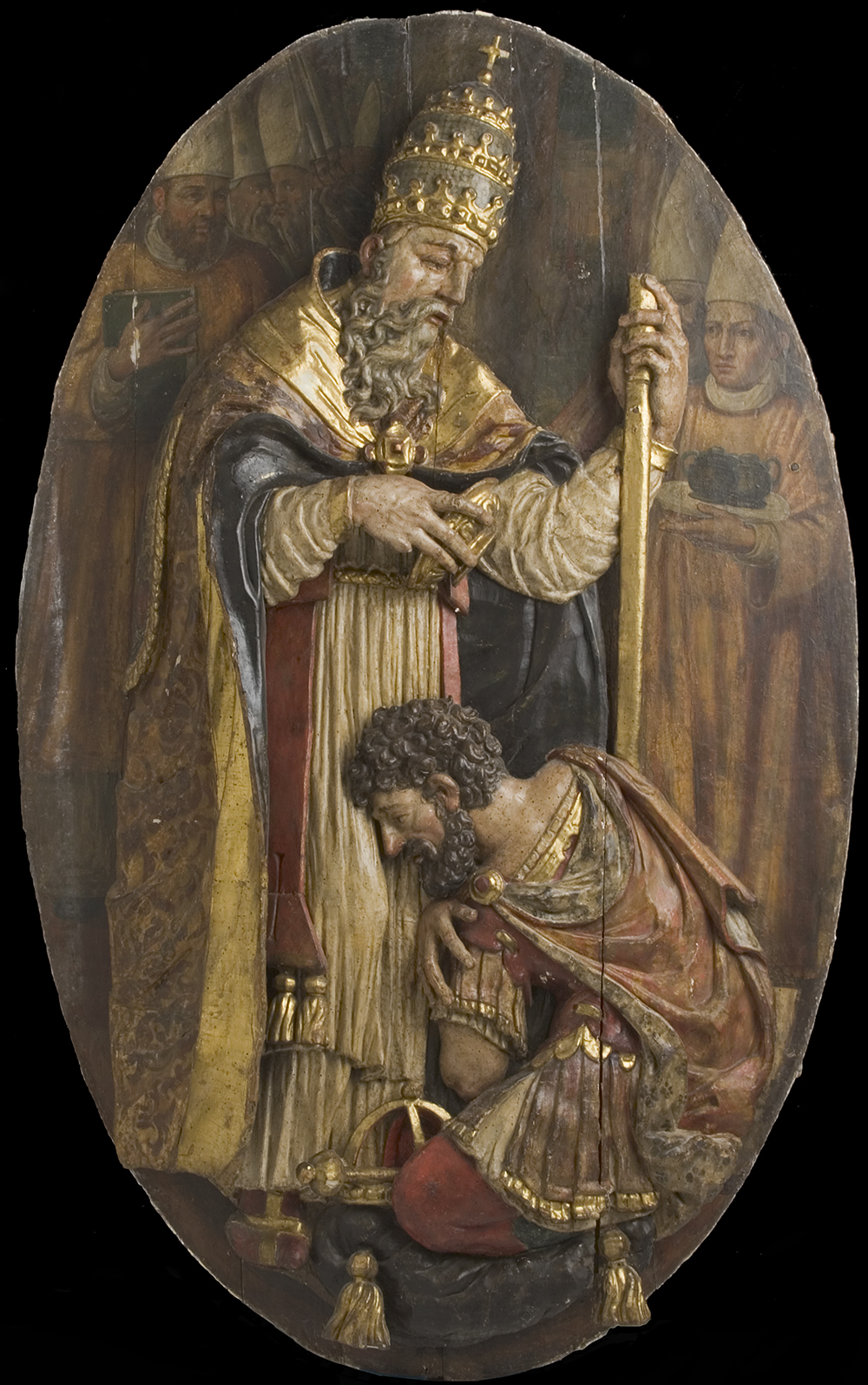Pope Blessing Constantine, c. 1500. The Los Angeles County Museum of Art, Gift of Max and Elinor Toberoff.