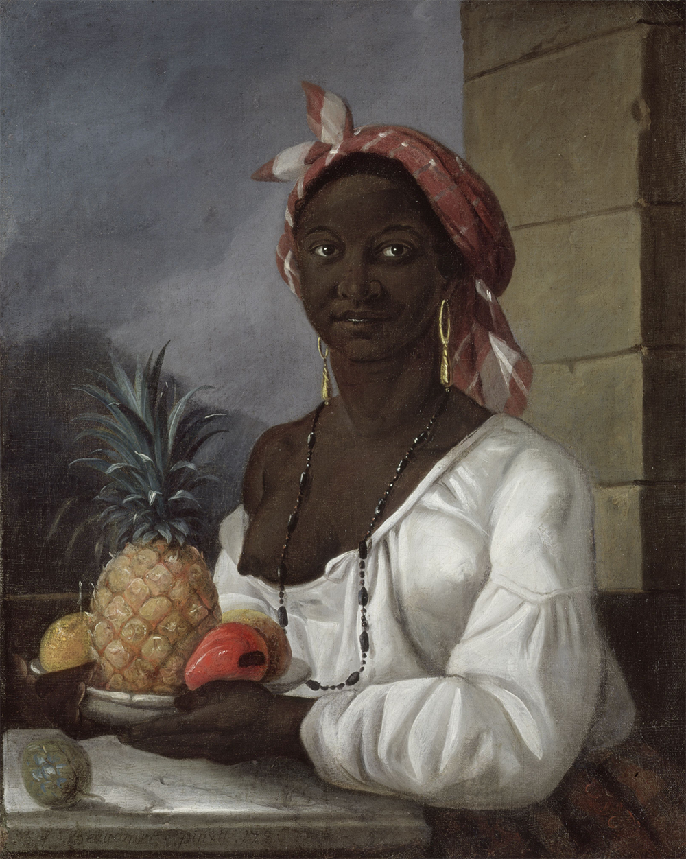 Portrait of a Haitian Woman, by François Beaucourt, 1786.Wikimedia Commons, McCord Museum, Montreal.