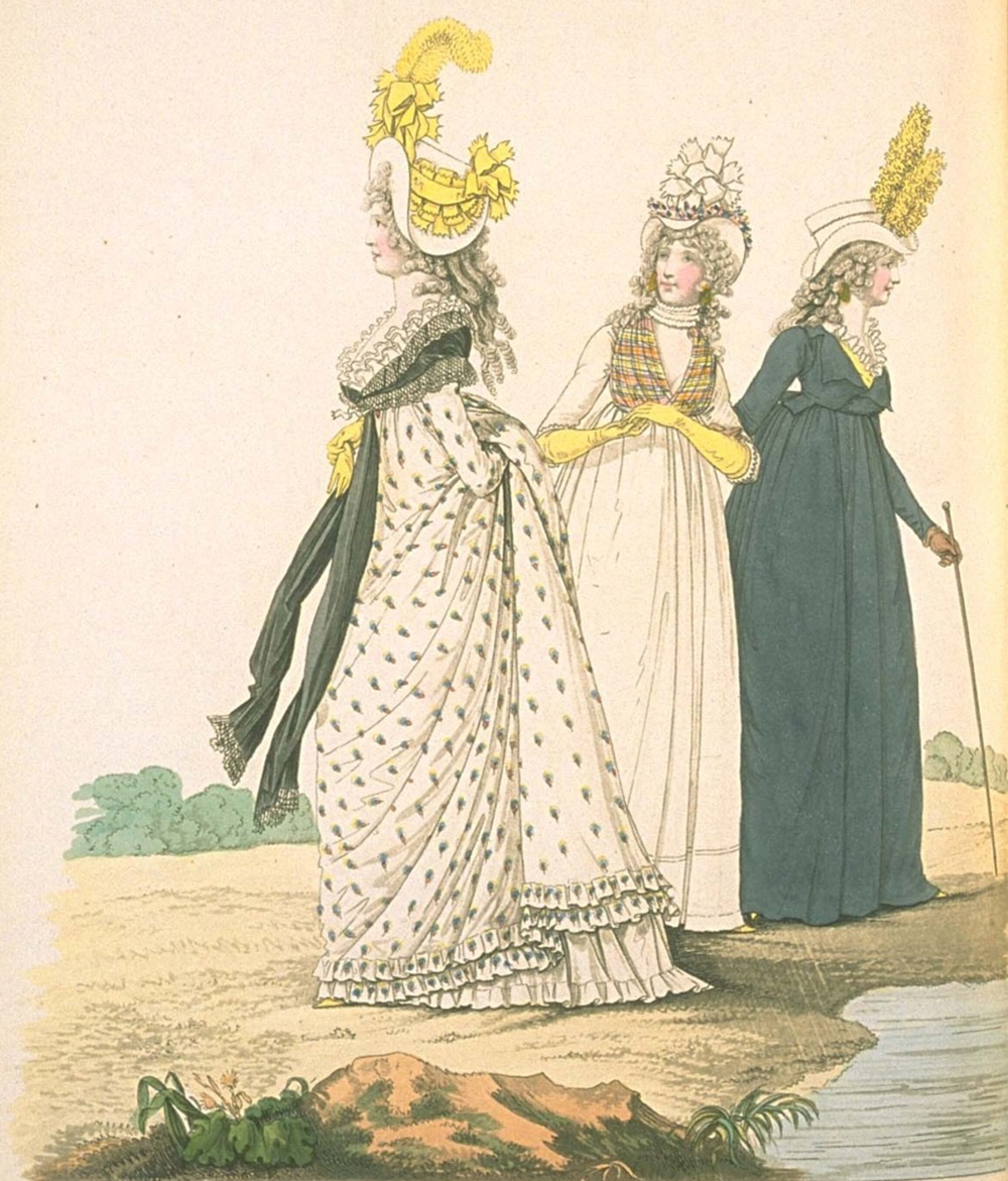 Morning Dress, from Heideloff's Gallery of Fashion, November 1795. Yale University, Beinecke Rare Books Library,