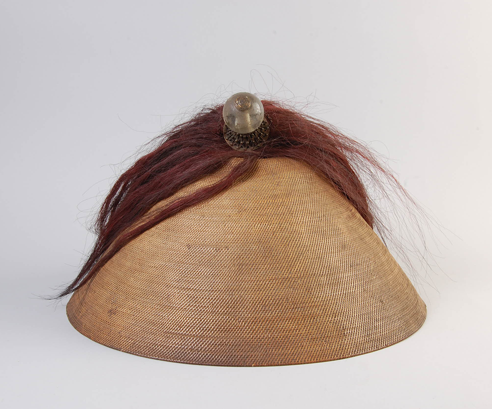 Mandarin's cap, early nineteenth century, Tibet. British Museum (CC BY-NC-SA 4.0).