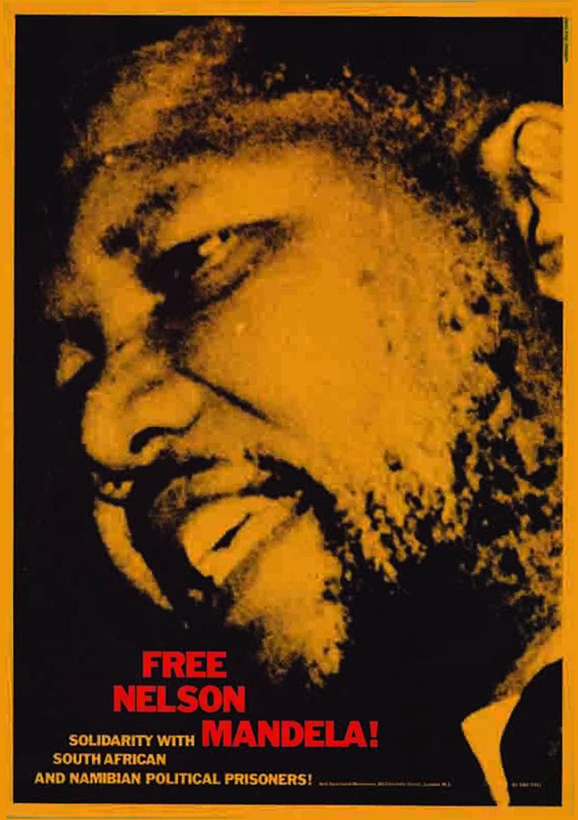"""Free Nelson Mandela"" poster. Design by David King."