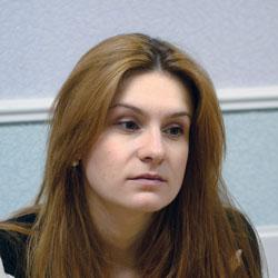 A photograph of Maria Butina.