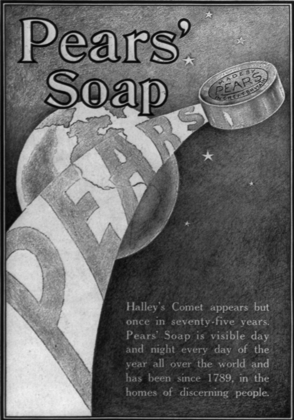 Pears' Soap advertisement, 1910.
