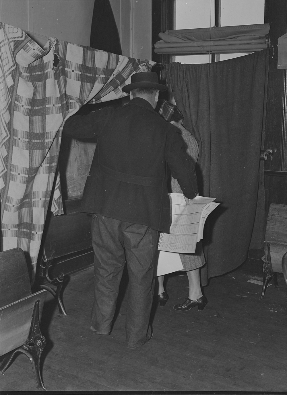 Election Day in McIntosh County, North Dakota, 1940. Photograph by John Vachon