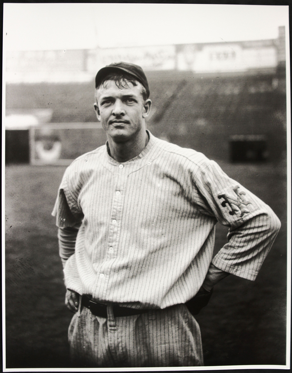 New York Giant Christy Mathewson, 1912, the year he published Pitching in a Pinch. Photograph by Charles Martin Conlon.