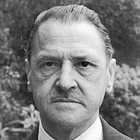 A photograph of W. Somerset Maugham